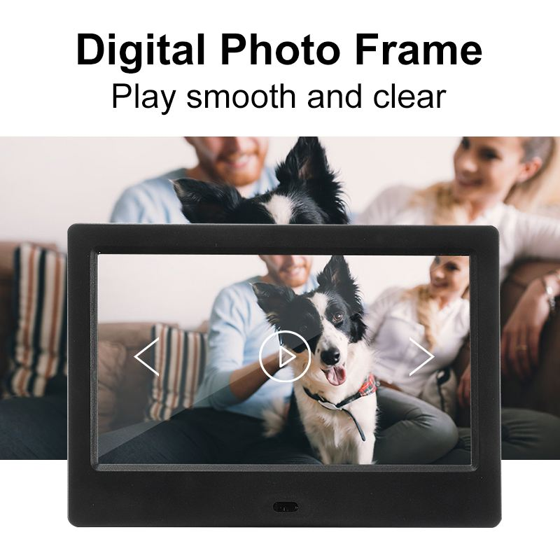 7 Inch Screen LED Backlight HD 1024*600 Digital Photo Frame + Remote Control Full Function Electronic Album Picture Music Movie