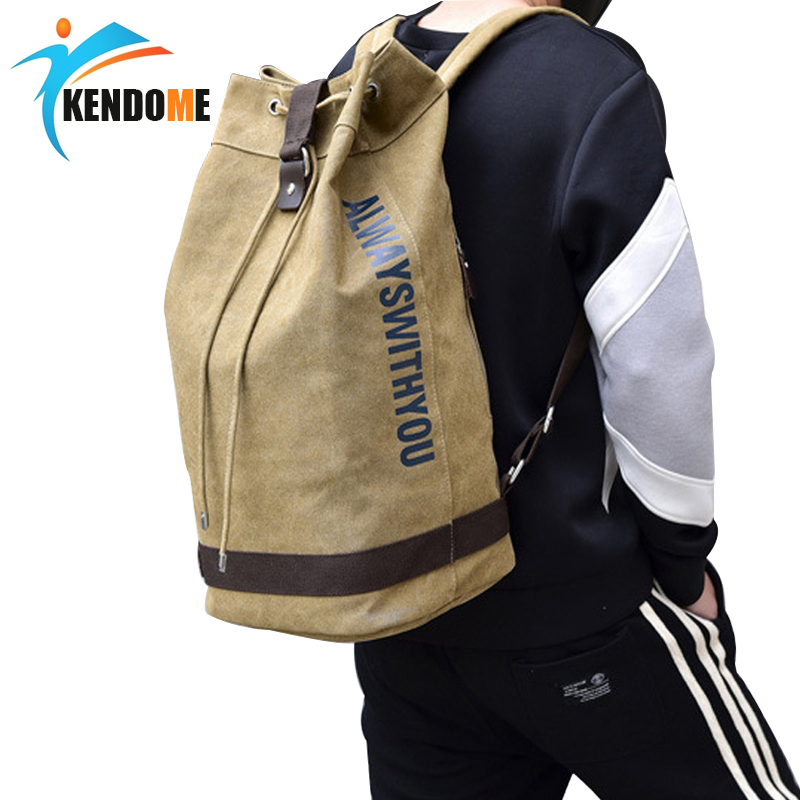 Hot Top Canvas Men's Sports Gym Bags Outdoor Basketball Backpack For Teenager Soccer Ball Pack Laptop Bag Training Fitness Bag