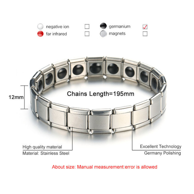 Magnetic Healthcare Weight Loss Bracelet Energy Black Germanium Bracelet Slimming Therapy Acupoints Adelgazar Anti Cellulite 5