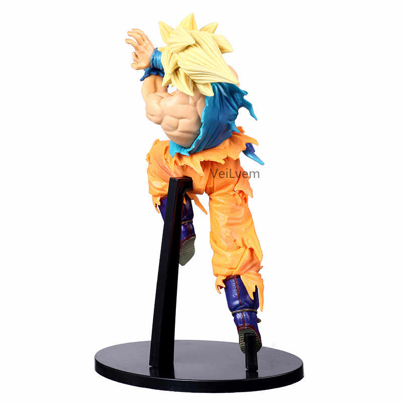 Figura Dragon Ball Super Saiyan Goku BANPRESTO BWFC MUNDO FIGURA Brinquedos PVC Action Figure Collectible Modelo 20cm