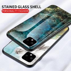На Алиэкспресс купить стекло для смартфона marble glass phone case for google pixel 4a 4 xl cover coque for google pixel 3a xl 3 xl 2 xl 1 xl anti-fall protective case