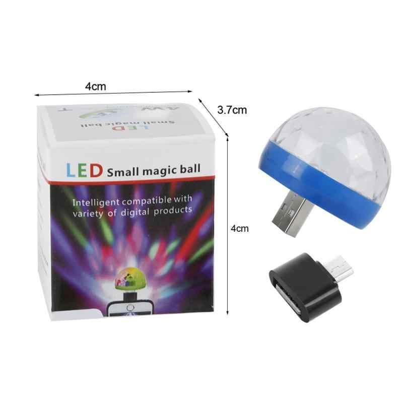 Mini przenośny etap Disco światła kulkowe Android/Huawei/Apple USB wtyczka przyjazny dla użytkownika dopasowanie adapter oświetlenie dj ruchoma głowica
