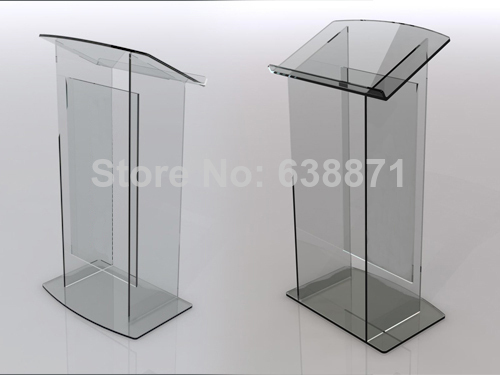 Free Shiping High Quality Modern Design Lucency Acrylic Lectern/Podium/Pulpit Wholesale