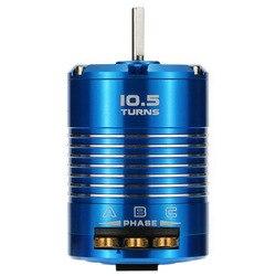 High Efficiency 540 Sensored Brushless Motor for 1/10 RC Car Blue, 10.5T 3450KV