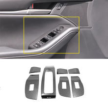 Stainless Steel For Mazda 3 2019 2020 Accessories Auto Door Window Glass Lift Control Switch Panel Cover Trim Car Styling stainless steel for mazda cx 5 cx5 2017 2018 door window glass lift control switch panel cover trim car styling accessories 4pcs