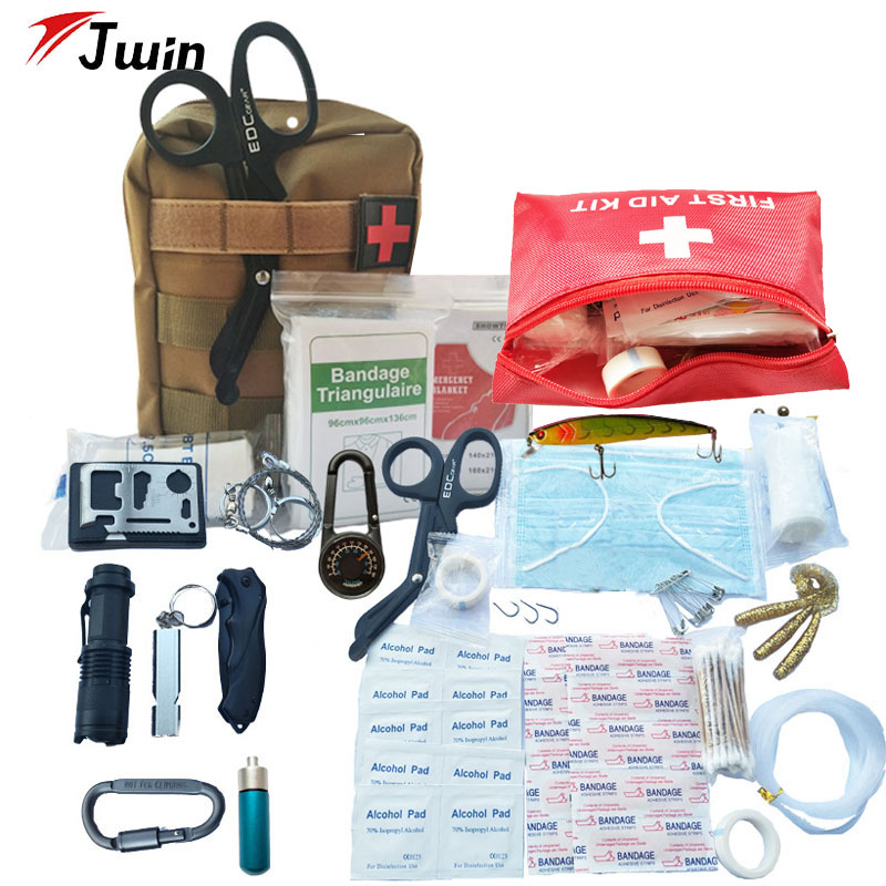 Safety & Survival First Aid Kit IFAK Molle System Wilderness Outdoor Gear Emergency Kits Trauma Bag For Camping  Hunting Hiking