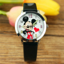 luminous Pointer to the love The mouse Belt quartz Children watch lovely cartoon