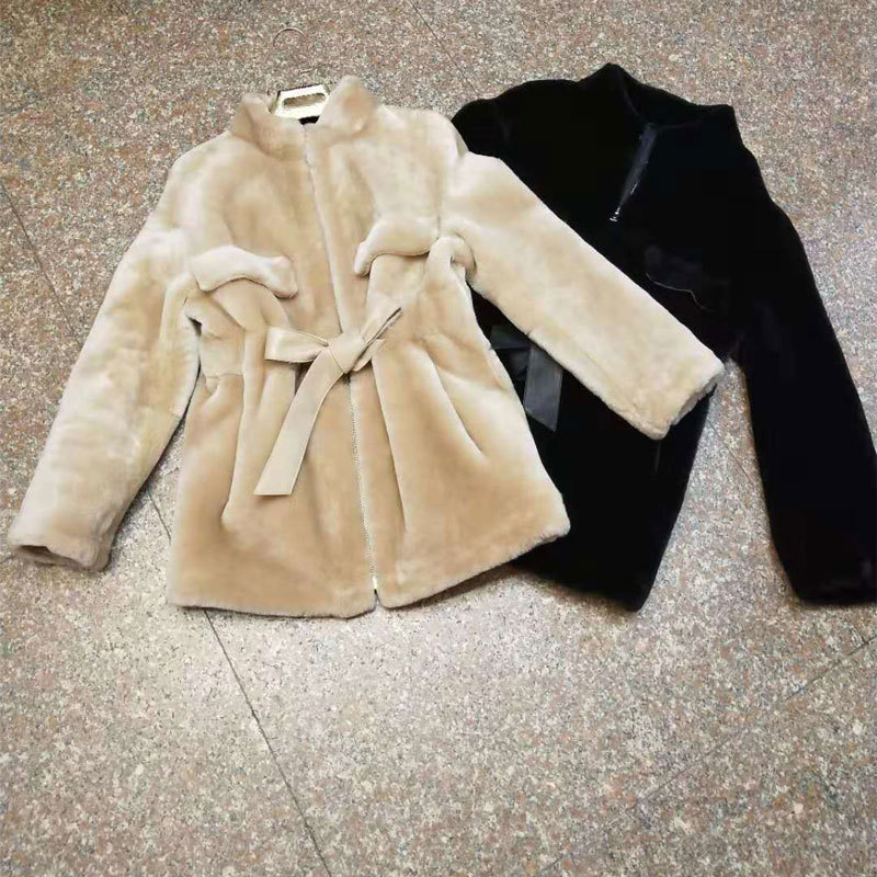 Fur Real Double-Faced Coat Women Winter Warm Wool Coats Female Genuine Jacket Long Parka With Natural Fur LX2467 S
