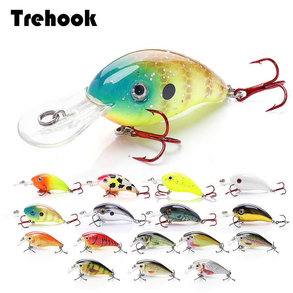 TREHOOK 4cm 5g Topwater Mini Crankbaits Fishing Lure Artificial Hard Bait Trolling Wobblers Fishing Tackle Lures Bass Swimbait-in Fishing Lures from Sports & Entertainment