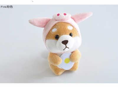Kawaii Shiba Inu Berdandan Mewah Mainan Kucing Stitch Babi Cosplay Lembut Boneka Gantungan Kunci Kartun Hewan Anjing Mainan Anak hadiah Ulang Tahun