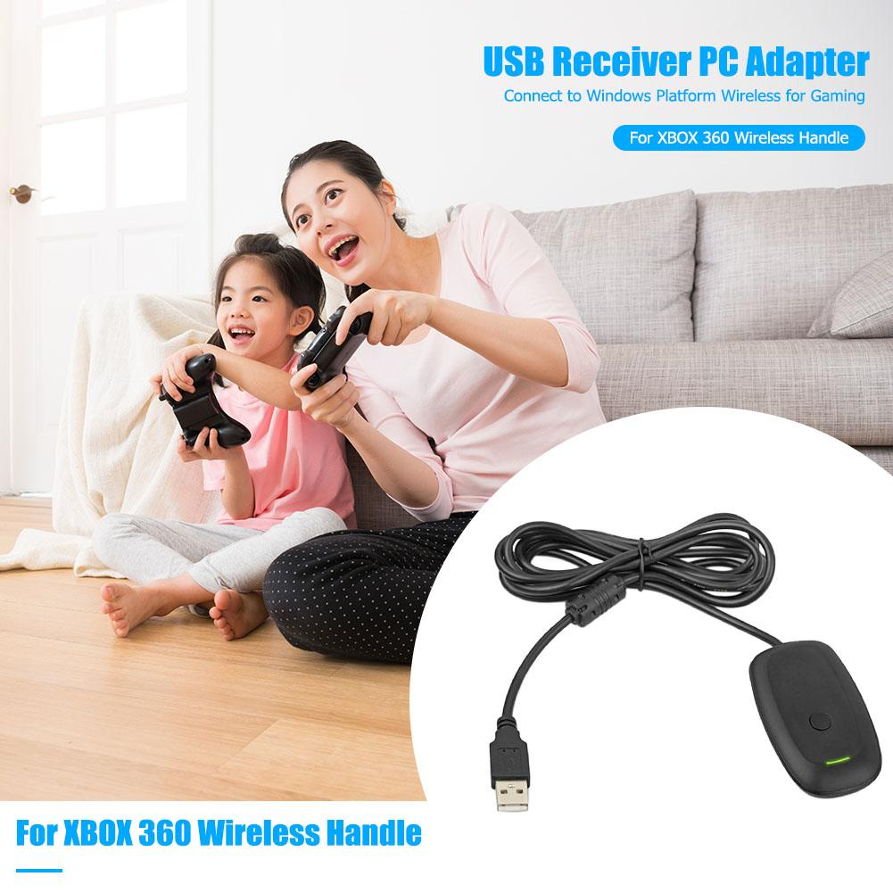 VODOOL <font><b>PC</b></font> <font><b>Wireless</b></font> <font><b>Controller</b></font> Gaming Receiver <font><b>Adapter</b></font> Cable for Microsoft <font><b>Xbox</b></font> <font><b>360</b></font> <font><b>Wireless</b></font> <font><b>Controller</b></font> Gamepad With CD Drive image