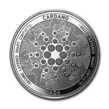 Ada cardano crypto moeda criptomoeda colecionável moeda prata iota moeda bitcoin coleção de arte física moeda comemorativa de ouro