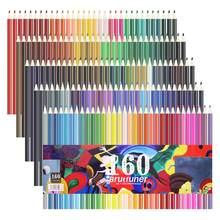 Crayons de couleur professionnels en bois huileux, 48 72 120 160 couleurs pour dessin de croquis de peinture, Support d'artiste de la rentrée scolaire