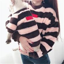 Роскошная полосатая теплая одежда для домашних животных 2019