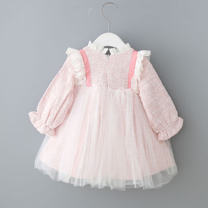 Image 2 - Baby Girls Dresses Lace Christmas Dress Wedding Party Ball Gown Children Clothing Kids Dresses For Girls 0 2Y