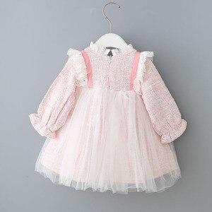 Image 2 - Bebek Kız Elbise Dantel Noel Elbise Düğün Parti Balo Çocuk Giyim Çocuklar Kızlar Için Elbiseler 0 2Y
