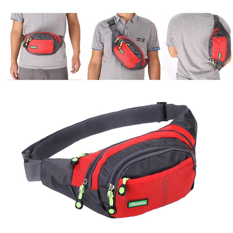 YoReAi Travel Bum Bag Fanny Pack Waist Bag Zipped Outdoor Sports Shoulder Bag Pouch Men Women Waist Packs Ladies Waist Pack