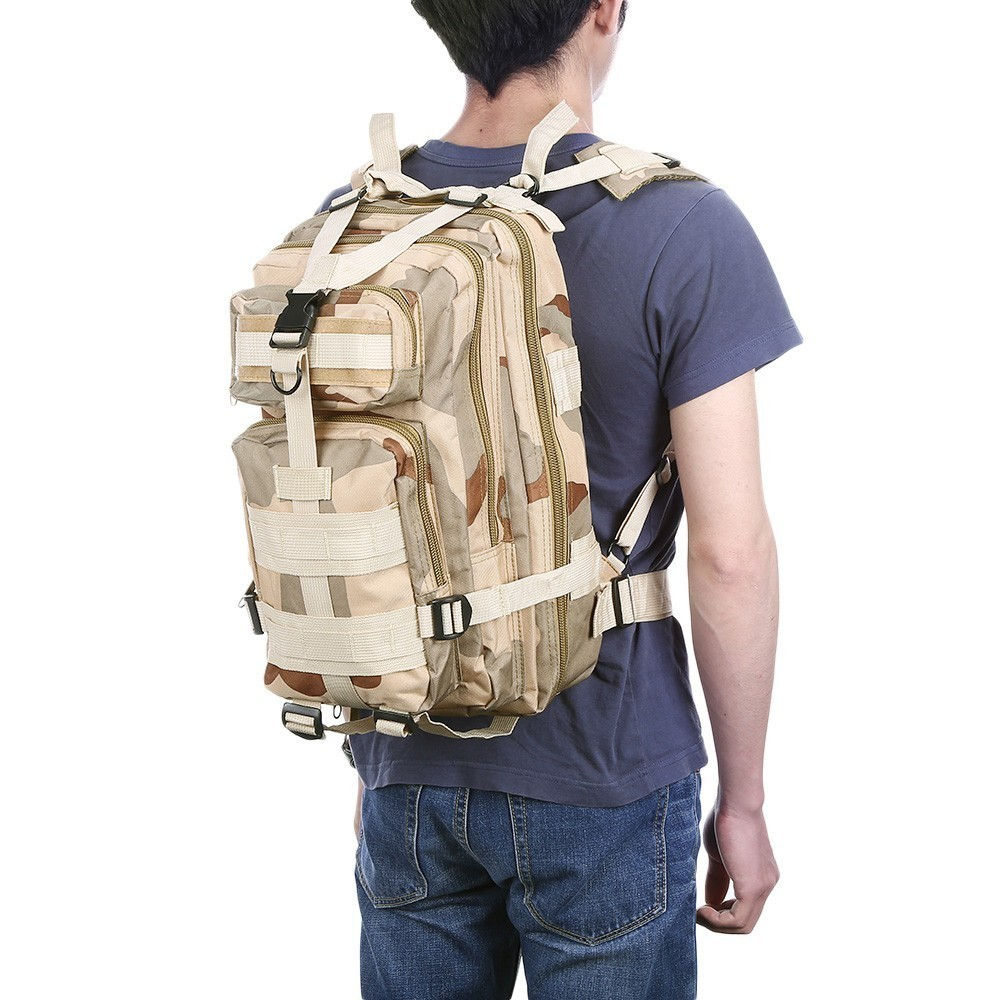 3D Military Tactical Backpack Army Camouflage Molle Bag Tactical Outdoor Sports Camping Hunting Pack For Men Hiking Climbing Bag Climbing Bags     - title=