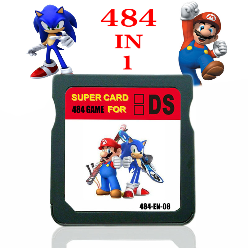 2021 Новое поступление картридж для игр DS 484 в 1 Nintendo NDS Game для 2DS 3DS New 3DS NDSI Sonic Mario Vedio Game подарок для детей
