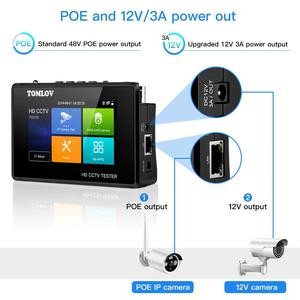 Image 3 - CCTV Tester צג TVI CVI AHD CVBS,4K H.265 MPEG IP מצלמה מבחן מהיר ONVIF 4 מגע מסך נייד יד PoE מצלמה tester