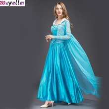 Wayelle 2019 New Halloween Dress for Ice Ace Princess Adult Cosplay Costume Snow White Cinderella