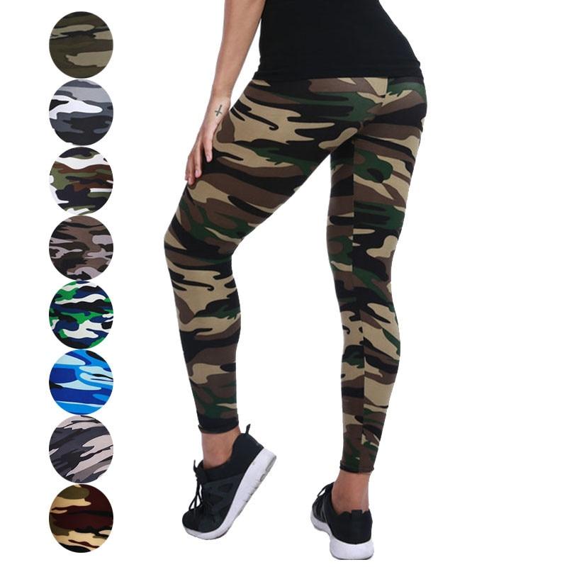 VISNXGI Camouflage Womens Leggins Fitness Pants Women Workout Legging High Waist Push Up Gym Sporting Leggin Female Plus Size
