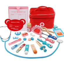 Wooden Kids Toys Doctor Toy Set Role-pla