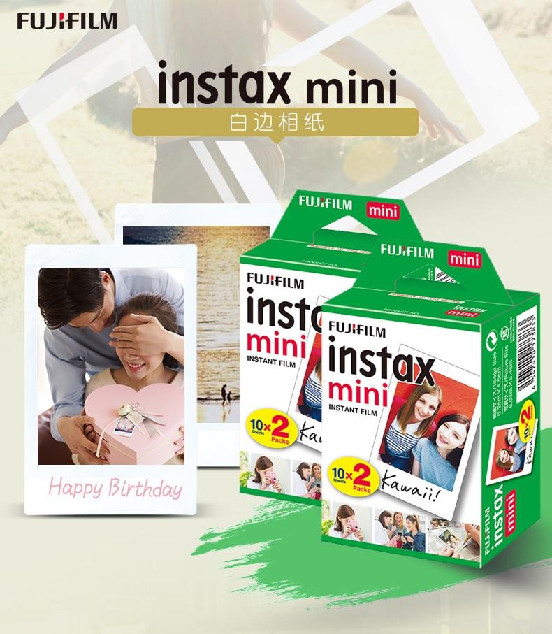 10-200 листов Fujifilm instax mini 9 фильм белый край 3 дюймов широкий пленка для Фотоаппарат моментальной печати mini 8 7s 25 50s 90 фото бумага