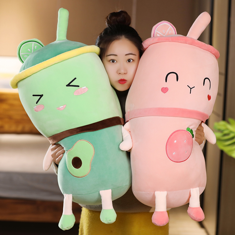 Avocado Plush Toys Cute Boba Stuffed Pillow Fruit Tea Cup Cartoon Sleeping Pushine Toys Valentines Gifts For Kids Girls Just6F