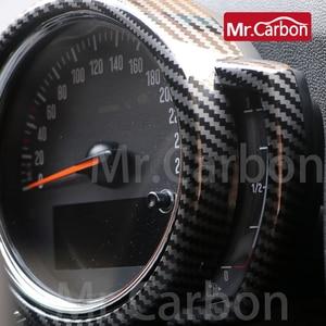 Image 4 - רכב טכומטר דקורטיבי כיסוי עבור BMW מיני אחד CooperS F54 F55 F56 F57 F60 ABS פלסטיק פחמן סגנון אביזרי שינוי