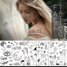 Временные тату наклейки цветы розы пионы Рисование эскизы тату дизайн уникальный цветок тату рукав браслет для девочки наклейки