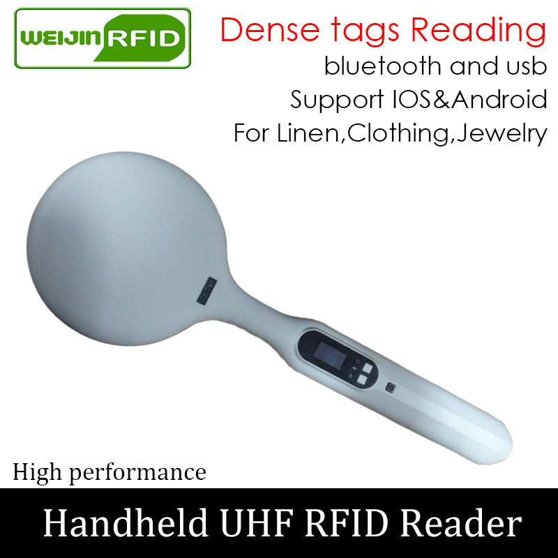 UHF RFID Handheld Reader Dense Tag Reading Portable Encoder Bluetooth Linen Clothing Jewelry Inventory  Scanner Writer Copier