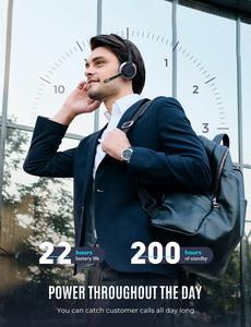 Mpow HC5 Bluetooth 5,0 Headset Für Call-Center Fahrer Büro Drahtlose Verdrahtete 2 in 1 22h Batterie Lebensdauer CVC 8,0 Noise Cancelling Mikrofon