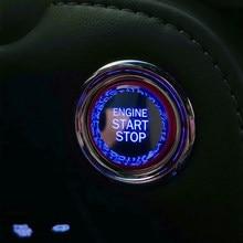 Acessórios interiores do carro de cristal start stop motor ignição capa botão caso para toyota camry rav4 chr yaris alphard corolla 86