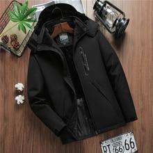 Winter Jacket Men Waterproof Hooded Windbreaker Male Thick Warm Parkas Fleece Ja