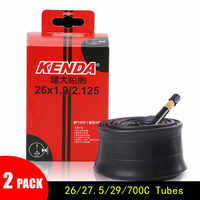 2PCS KENDA Bike Inner Tube bicicleta Tire MTB 26/27.5/29/700C Mountain Road Bike AV FV Bicycle Tyres Butyl Rubber Tube
