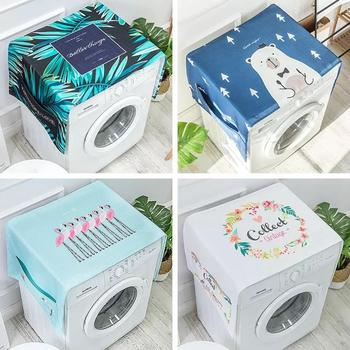 Nordic Linen Washing Machine Covers With Waterproof Coating For Interior Decoration