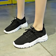 Hot Sale White Sneakers Women Vulcanized Shoes Fashion Platform Chunky Casual Ladies Flat D0026