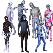 New Halloween Ghost Skull Clown Mummy Cosplay Costume Horrible Zentai Bodysuit Suit Jumpsuits