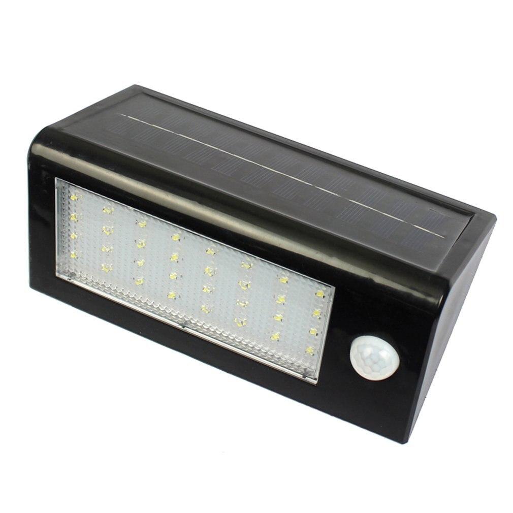 32 LED Solar Powered PIR Motion Sensor Wall Lamp Garden Yard Security Spotlight IP65 Waterproof Outdoor Garden Light