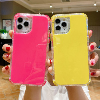 Shockproof Dual Layer Solid Candy Color Case for iPhone 12 12Max 12 Pro iPhone11 11Max Pro 7 8 Plus SE 2020 XR XS Max X Phone Shell Cover