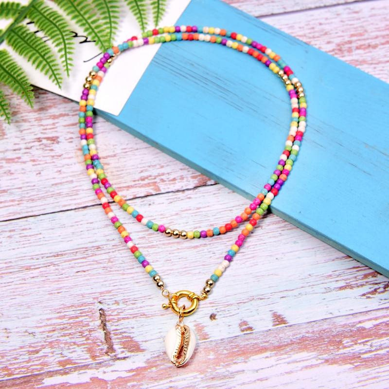MOON GIRL Big Seashell Long Pendant Necklace Bohemian Fashion Statement Boho Party Collier Femme Dropshipping
