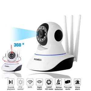 INQMEGA-cámara IP inalámbrica WIFI HD 1080P, Monitor de seguridad interior para el hogar, de red inteligente sistema de vídeo, Audio bidireccional/visión nocturna
