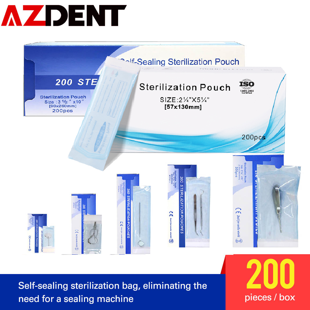200pcs/box Self-sealing Sterilization Pouches Bags Medical-grade Bag Disposable Tattoo Dental  Nail Art Bags Accessories