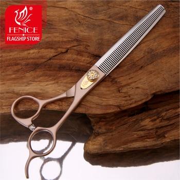 Tijeras de peluquería profesionales Fenice DE 7/7, 5 pulgadas para mascotas, tijeras...