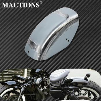 DIY Motorcycle Unpainted Short Flat Rear Fender Mudguard Cafe Racer For Harley Sportster Iron XL 48 72 883 1200 1986-2019