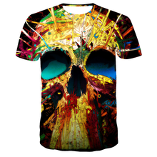 2021 New Design t shirt men/women Skull 3D printed t-shirts Hip hop casual Harajuku style tshirt streetwear men clothing Tops