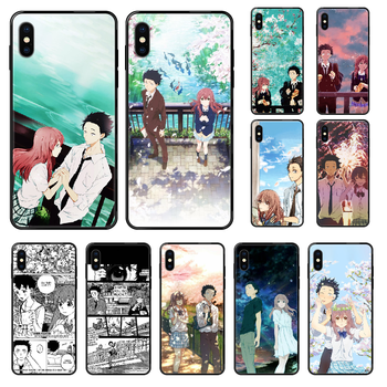 japan Koe no Katachi Anime Phone case For iphone 4 4s 5 5S SE 5C 6 6S 7 8 plus X XS XR 11 PRO MAX 2020 black trend Etui 3D shell image