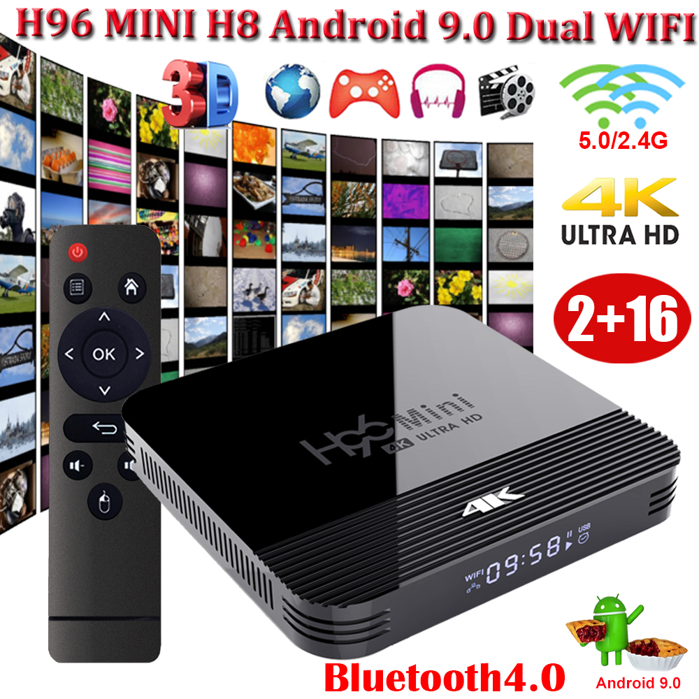 XGODY H96 MINI H8 4k HD TV Box 4 0 Bluetooth Wifi HDMI 2 0 Android 9 0 Media Player RK3228A Quad Core 2GB 16GB Set Top Box