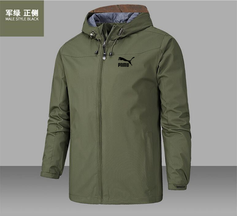 2020 new fashion men's jacket coat Hooded Coat long sleeve zipper coat wind proof and waterproof spring and autumn style 6